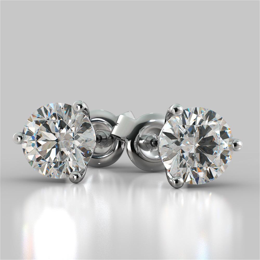 d05c1e9db Martini Style Round Cut Stud Earrings