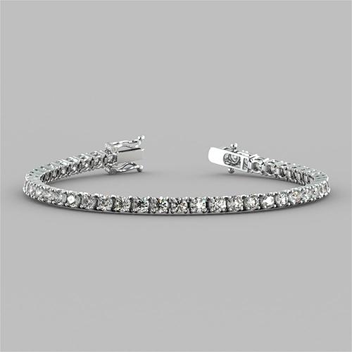Diamond Sterling Silver Bracelets Collection